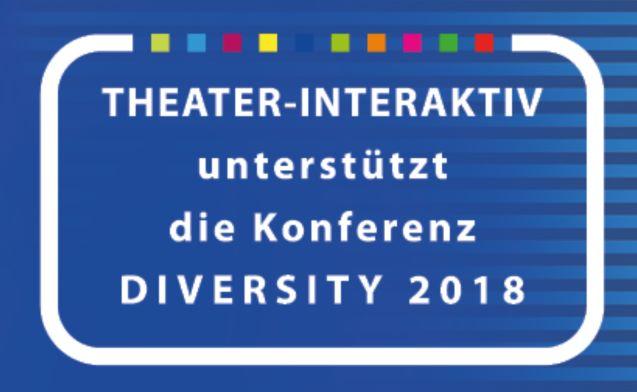 THEATER-INTERAKTIV unterstützt die Konferenz DIVERSITY 2018