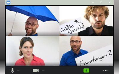 Wirkungsreiche Clips für virtuelle Konferenzen
